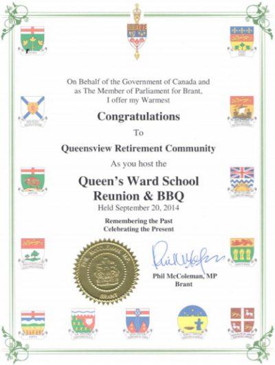 QueensviewAward2014