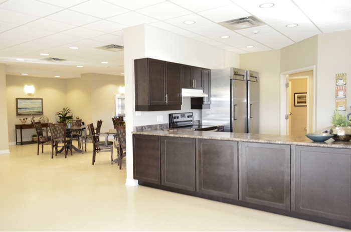 Community Clubhouse Kitchen and Gathering Room